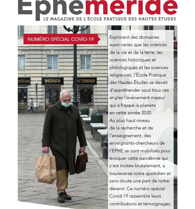 Éphéméride, le magazine de l'EPHE – Spécial COVID-19