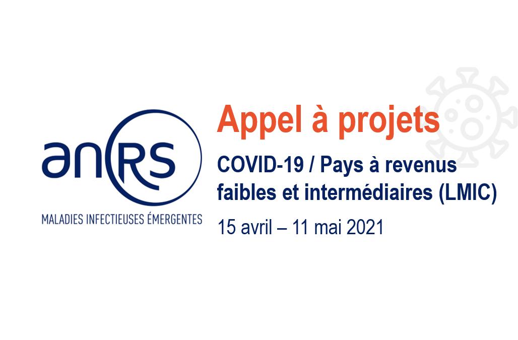 Appel à projets  COVID-19 / Pays à revenus faibles et intermédiaires  de l'ANRS | Maladies infectieuses émergentes
