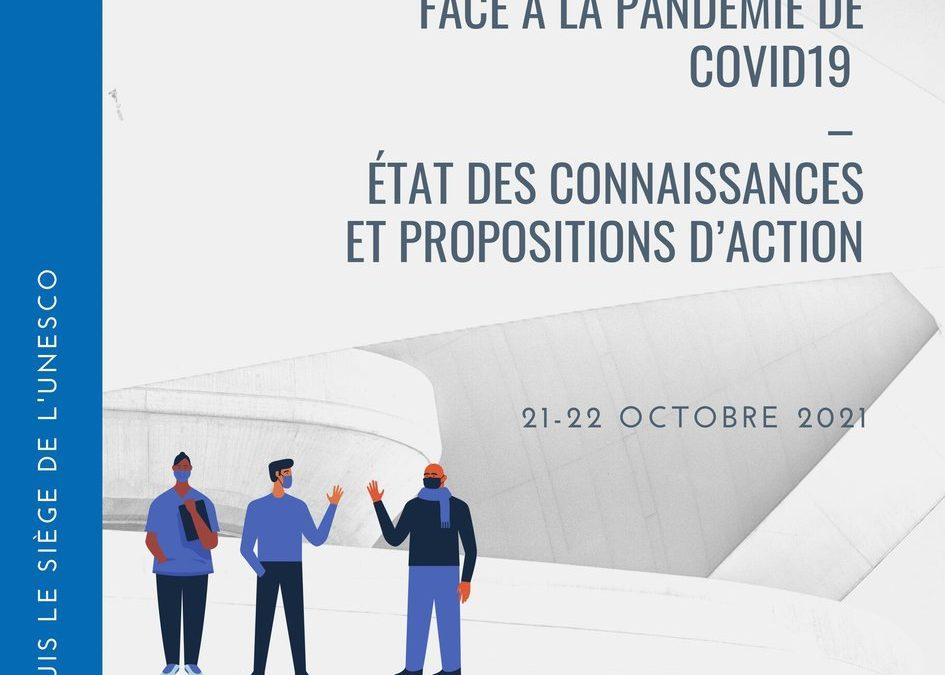Les sciences sociales face à la pandémie de Covid-19 : État des connaissances et propositions d'action (21-22 octobre 2021)
